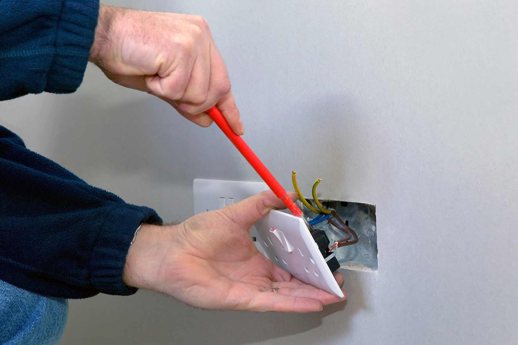 Our electricians can install plug sockets for domestic and commercial proeprties in St Johns Wood and the local area.